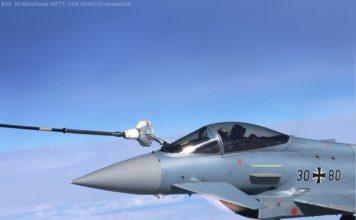 A330 MRTT der Nato betankt Eurofighter der Luftwaffe