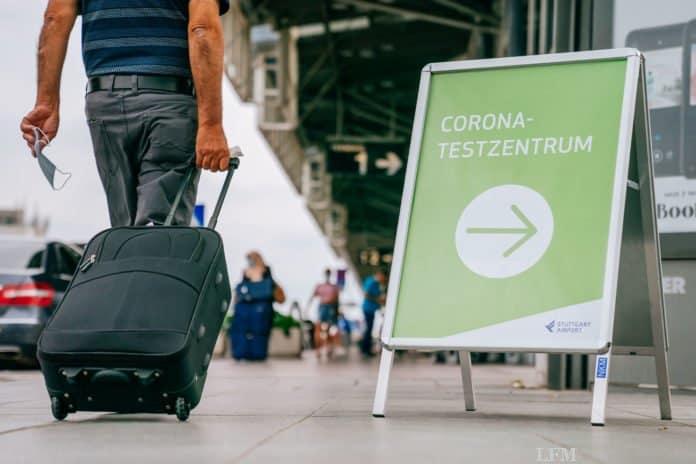 Corona-Testcenter am Flughafen Stuttgart