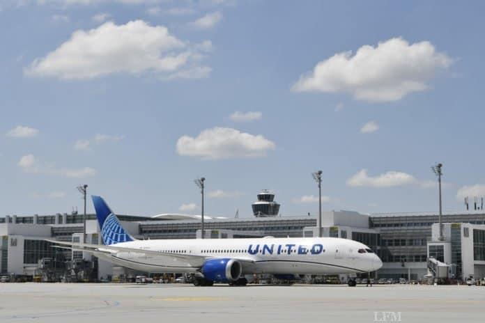 United Airlines am Flughafen München