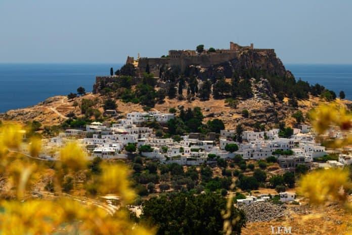 Historische Stadt Lindos auf Rhodos, Griechenland