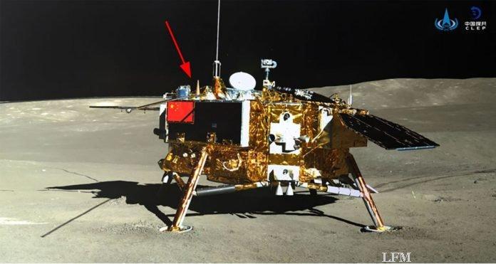 Mondlandesonde Chang'e-4 aufgenommen vom Rover Yutu-2