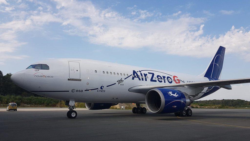 Parabelflug: A310 Zero G vor der Halle bereit für die Wissenschaftsflüge