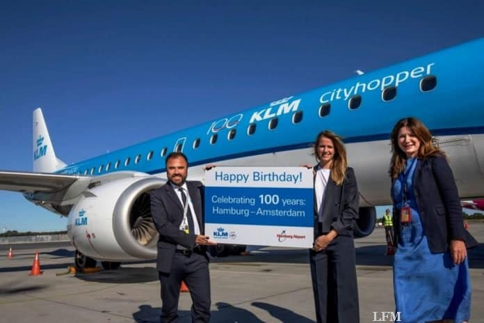 KLM Royal Dutch Airlines Europa-Nordwestflug