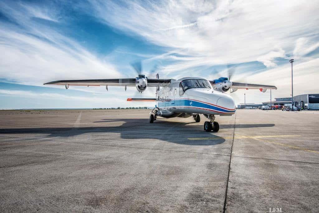 DLR-Forschungsflugzeug DO 228 in Cochstedt