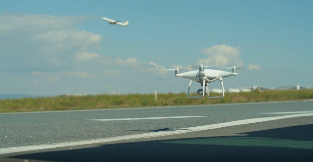 DJI-Drohne Frankfurt Vorfeld