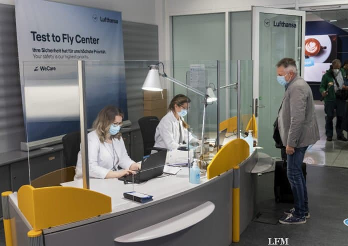 Lufthansa-Testcenter im Terminal 2 am Flughafen München
