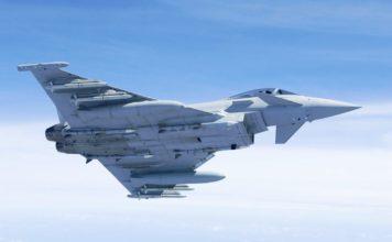 Kampfflugzeug des Typs Eurofighter