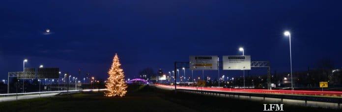 Weihnachtsbaum am Flughafen München