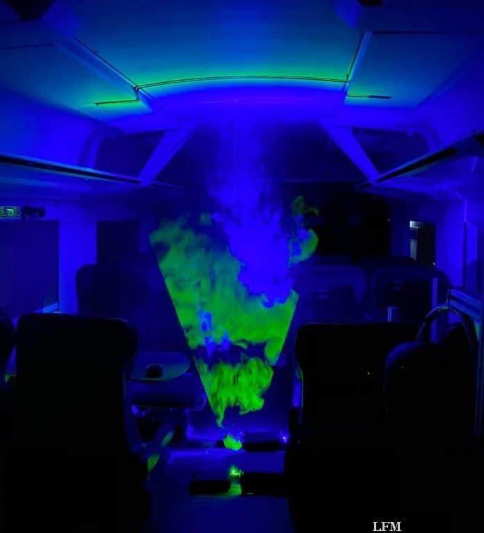 Laser-Rauch Visualisierungen