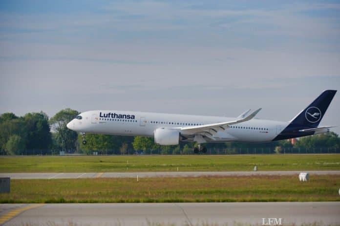 Lufthansa A350 Take Off auf dem Runway