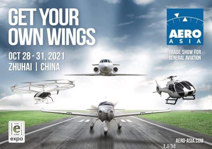 AERO ASIA Luftfahrtmesse in Zhuhai (China) beginnt im Oktober