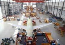 Produktion der Airbus Familie A320