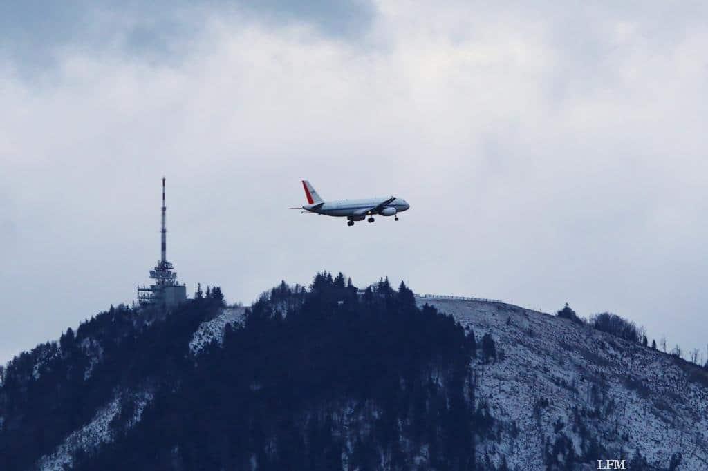ATRA während der Flugversuche in Salzburg