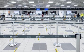 BER-Terminal 5: Check-in-Bereich in Schönfeld