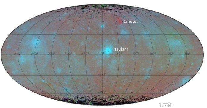 Blaues Oberflächenmaterial auf Ceres