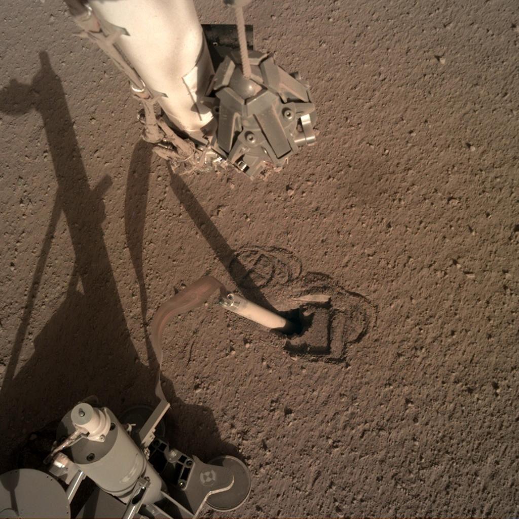 DLR-Marsmaulwurf nach Rückwärtsbewegung