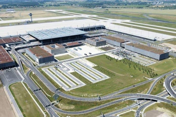 Flughafen BER, Luftaufnahme
