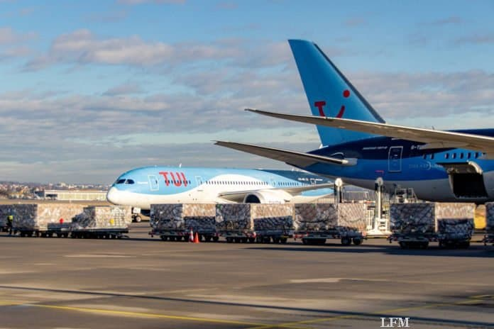 787 Dreamliner am Flughafen Stuttgart