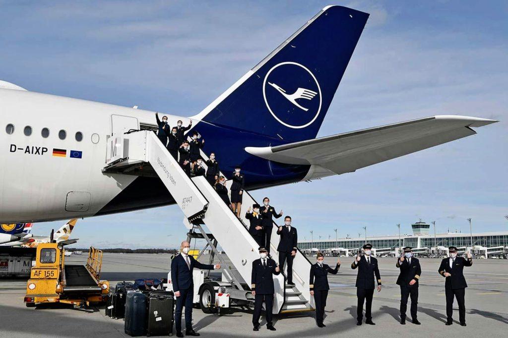 Lufthansa A350 Rekordflug