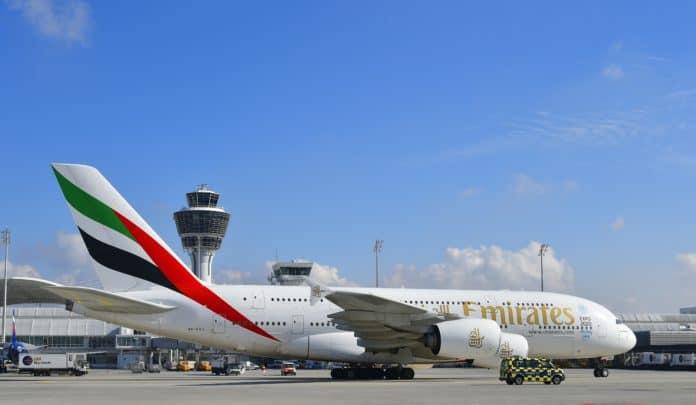 Emirates A380 in München