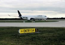 Airbus A350-900 startet zum Falkland-Flug
