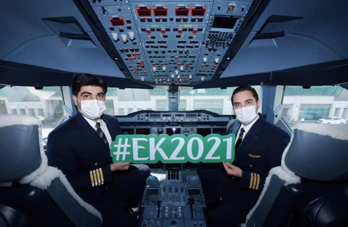 Emirates Sonderflug EK2021 Cockpit-Crew