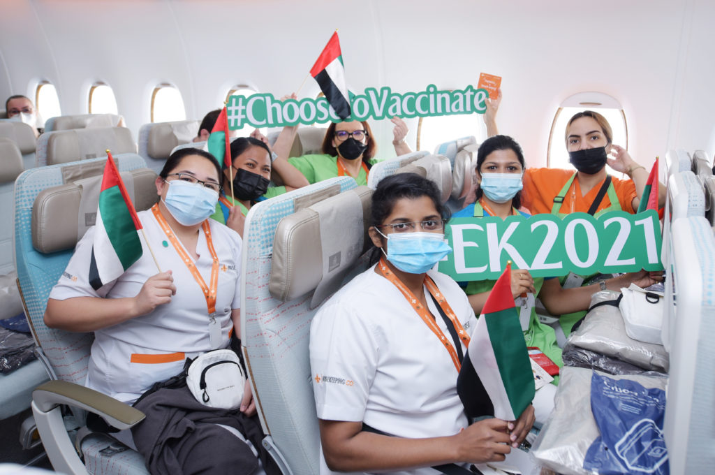 Emirates Sonderflug EK2021 Passagiere