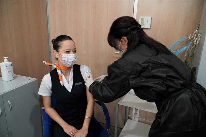 SuxExpress-Crews erhalten Impfung