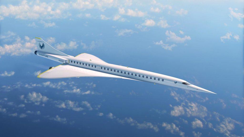 Geplantes Passagierflugzeug von Boom Supersonic: Das Overture Flugzeug von Boom Supersonic wird ebenfalls in den USA entwickelt. Der US-amerikanische Hersteller hat den Rollout für Mitte dieses Jahrzehnts angekündigt.