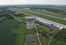 Flughafen Rostock-Laage, Luftbild