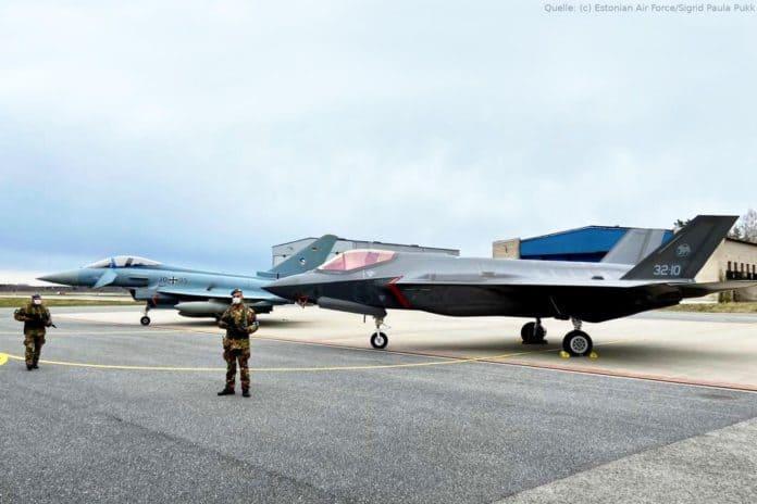 Kampfflugzeug des Typs F-35A Lightning II
