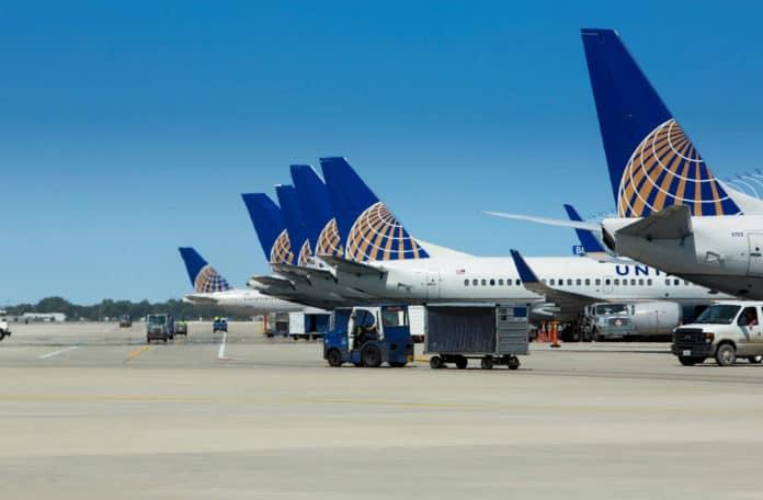 United Flugzeuge am Chicago O'Hare International Airport