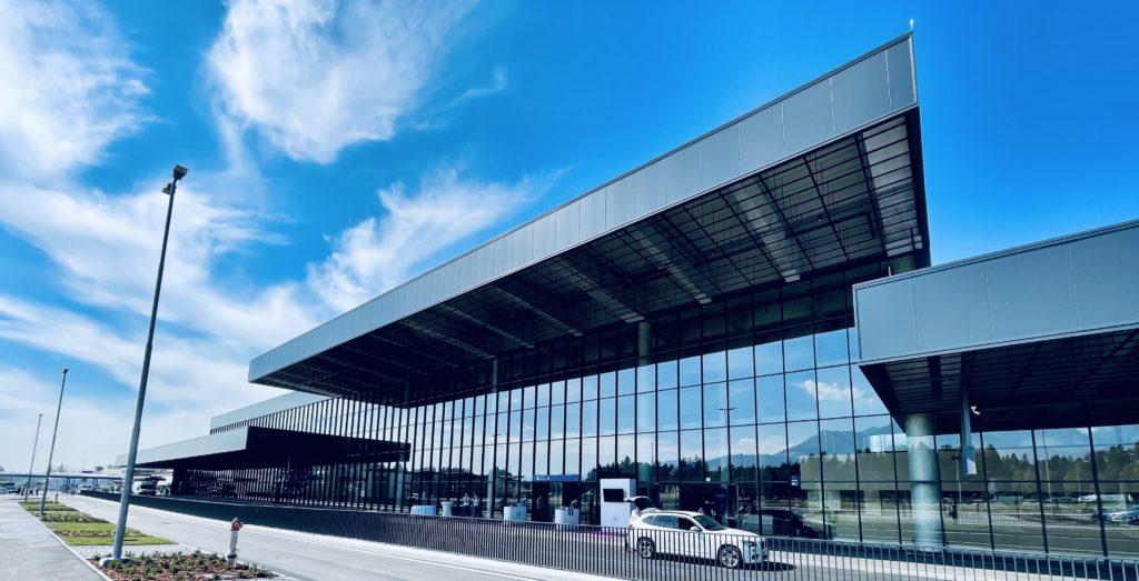 Passagierterminal am Flughafen Ljubljana