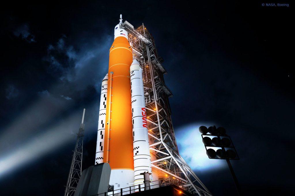 Rakete SLS mit Teilen von MT Aerospace aus Bayern