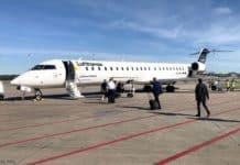 Lufthansa CityLine bindet mit Canadair Jet 900 Flufghafen Münster Osnabrück an