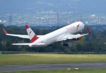 Boeing 767 von Austrian Airlines beim Start
