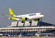 airBaltic am Flughafen Stuttgart